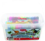 DACO Kit plastilina 24 culori/set 500 g si 17 accesori modelaj DACO