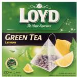 Loyd aromatizált zöld tea citrom ízesítéssel 20 filter 34 g