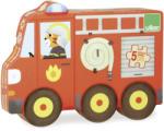 Vilac Első jármű forma puzzle szett fából - 5 fajta jármű (V2631)