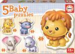 Educa Puzzle bebe Animalele junglei Educa cu 5 imagini diferite de la 24 luni (EDU14197)