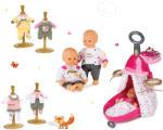 Smoby Set Smoby cărucior pentru înfăşat Baby Nurse Ediţie Aurie, păpușă și haină pentru păpuşă 220316-5 (SM220316-5)