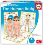 Educa Joc educativ pentru copii Învăţăm despre corpul nostru 4 puzzleuri Educa în limba engleză între 4-7 ani (EDU16420) Joc de societate