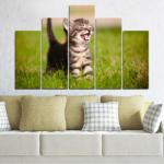 Vivid Home Картини пана Vivid Home от 5 части, Животни, Канава, 110x65 см, 5-та Форма №0215
