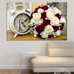 Vivid Home Картини пана Vivid Home от 1 част, Цветя, Канава, 100x65 см, №0577