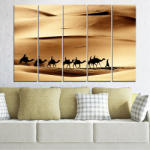 Vivid Home Декоративни панели Vivid Home от 5 части, Пясък, PVC, 160x100 см, 2-ра Форма №0208