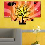Vivid Home Декоративни панели Vivid Home от 5 части, Животни, PVC, 160x100 см, 6-та Форма №0380
