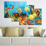 Vivid Home Картини пана Vivid Home от 5 части, Море, Канава, 160x100 см, 7-ма Форма №0668
