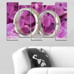 Vivid Home Декоративни панели Vivid Home от 5 части, Люляк, PVC, 160x100 см, 3-та Форма №0230