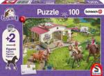 Schmidt Spiele Lovastanya 100 db-os puzzle 2 db ajándék Schleich figurával (56190)