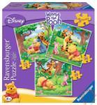 Ravensburger Micimackó és barátai 3 az 1-ben puzzle 25,36,49 db-os (07207)