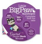 Little big paw АНГЛИЯ / england LittleBigPaw Gourmet Tender Duck Mousse - деликатесен мус от патешко месо 85 гр (stef D85D LittleBigPaw Gourmet Tender Duck Mousse 85гр)