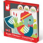Janod 3-szintű puzzle - kacsák Janod (J07030)