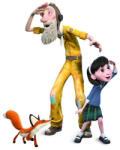 Hape Kis herceg figurák - Kislány, pilóta, róka (KISHERCEG013513)
