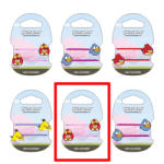 Sanrio Angry Birds hullámcsatt piros madárlány Lugar (LUGAR5773A)