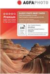 AGFA Hartie foto inkjet lucioasa AGFA Premium, 10x15 cm, 210 g/mp