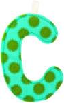 "Lilliputiens C"" betű - textil"