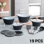 Bravissima Kitchen Black Premium 3502 Fõzõkészlet (19 darabos)