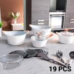 Bravissima Kitchen White Premium 3502 Fõzõkészlet (19 darabos)