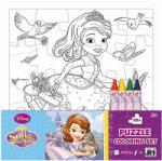 JIRI MODELS Szófia hercegnő színezhető puzzle zsírkrétákkal 20db-os - Jiri Models