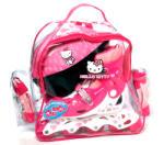 Hello Kitty Görkorcsolya szett Hello Kitty lányoknak + sisak