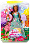 Barbie Dreamtopia: barna bőrű hajvarázs hercegnő 104793
