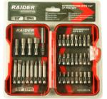 """Raider Накрайници 1/4"""" 37 бр. к-т raider - megatools"""