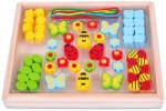 Bigjigs Toys Cukorkás, virágos színes gyöngyök (BJ636)