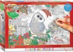 EUROGRAPHICS Színezhető puzzle - Holly Jolly Owl 300 db-os (6033-0885)