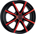 Mak Milano 4 Black & Red CB72 4/100 16x6.5 ET40