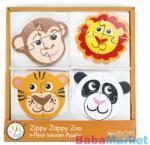 Bead Bazaar 4 db-os fa puzzle - állatkert - babamarket