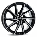 ALUTEC SINGA diamond-black front polished CB57.1 5/100 15x6 ET38