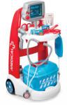 Smoby Cărucior medical Medical Smoby electronic cu valiză albastră şi cu 16 accesorii (SM340202)