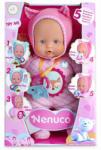Famosa Nenuco: My Little puhatestű baba rózsaszín ruhában 5 funkcióval 30cm-es
