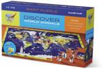 Crocodile Creek Descoperă Lumea şi Animalele - Puzzle de Învățat şi Joacă - 100 piese Puzzle