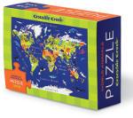 Crocodile Creek Harta Lumii - Puzzle Cutie de Chibrituri Puzzle