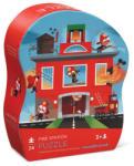 Crocodile Creek Puzzle Staţie de Pompieri în Cutie cu Formă Originală