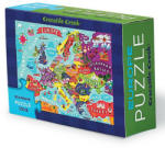 Crocodile Creek Puzzle Educativ, Descopera Europa - miculgigant - 25,00 RON Puzzle
