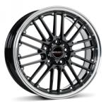 Borbet CW2 black rim polished CB57.06 5/112 17x8 ET35