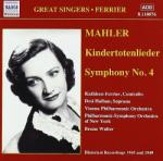 MAHLER, G Kindertotenlieder/sym. No