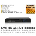 ICANSEE Video Recorder ICanSee Tribrid model ICS-HD CLEAR TRIBRID 8 Canale Video 1 Canal Audio Rezolutie HD Vizualizare pe Internet (ICSE-ICSTRIBRIDCLEAR8chCVR)