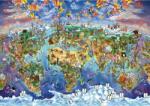 Art Puzzle 4717 - A világ csodái - illusztrált térkép, Maria Rabinky - 2000 db-os puzzle