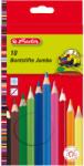 Herlitz Creioane colorate mina groasa, 10 culori/set HERLITZ Jumbo