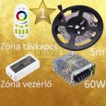 Vled Gold 1 (5050 SMD 30led/m szalag +Zóna RF gombos vezérlő + 60W fém táp) (RGB-szett-gold-1)