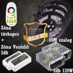 Vled Prémium Plusz (5050 SMD 60led/m szalag +RF touch vezérlő + 2db 120W táp) (RGB-szett-premium-plusz)