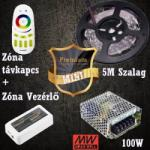 Vled Prémium mini (5050 SMD 60led/m szalag +RF touch vezérlő + 100W táp) (RGB-szett-premium-mini)