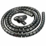 Lindy 40581 Kábelrendező spirál 5m - Fekete (40581)