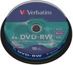 Verbatim DVD-RW 4.7Gb 4x 10 buc/cut, VERBATIM Matt Silver