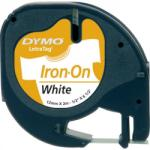 DYMO Banda etichetare 12mm x 2m din nylon alba, DYMO LetraTag Iron-On