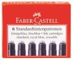 Faber-Castell Rezerva de cerneala (cartus) mica albastra 6 buc/set, FABER-CASTELL