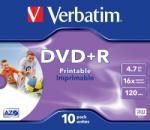 Verbatim DVD+R 4.7Gb 16x jewelcase, VERBATIM Wide Printable